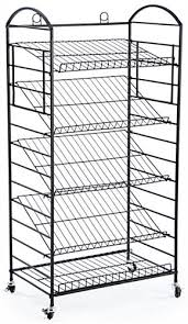 Shelves On Wheels by 5 Tier Bakers Rack Removable Shelves Lay Flat Or Angled
