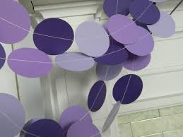 shades of purples purple baby shower decorations 10 foot paper garland purple