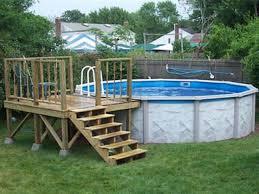 image result for 24 ft above ground pool deck plans decks