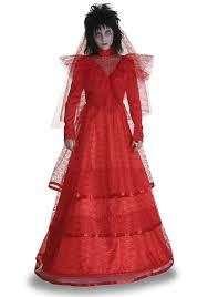 Halloween Costume Beetlejuice Amazon Size Red Gothic Wedding Dress Clothing
