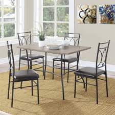 Metal Dining Room Chair by Dorel Living Shelby 5 Pc Rustic Wood U0026 Metal Dining Set Rustic