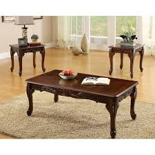 Cherry Coffee Table Furniture Of America Winslow 3 Coffee Table Set
