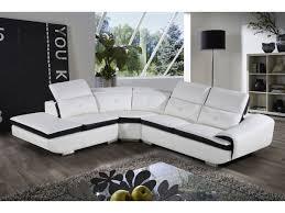 lolet canapé canapé d angle montréal 5 places blanc angle gauche 93663