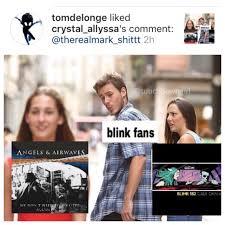 Blink 182 Meme - tom delonge likes meme that mocks blink 182 s california