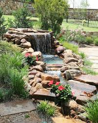 water features that create a soothing backyard environment photo