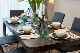 modern table settings dining room table settings custom decor dining room table settings