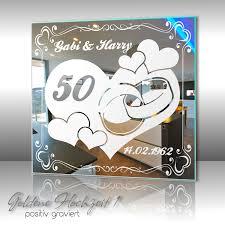 geschenke zum 50 hochzeitstag motivspiegel goldene hochzeit geschenk 50 hochzeitstag bild mit