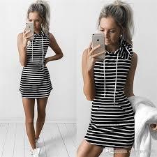2017 sale hooded sleeveless mini women dress sport running