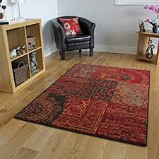 amazon co uk red area rugs carpets u0026 rugs home u0026 kitchen