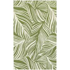 Tommy Bahama Rugs Outlet by Atrium Tropical Leaf Green U0026 Ivory Indoor Outdoor Area Rug