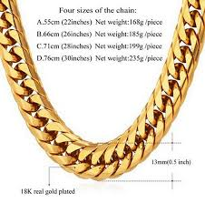 necklace metal types images Men stainless steel gold necklaces thick chain different types jpg