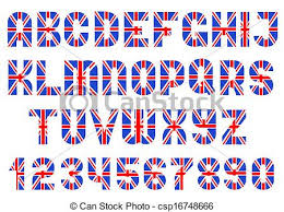 alphabet of british flag letters and numbers alphabet of clip