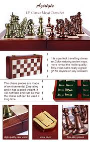 amazon com agirlgle international chess set with folding wooden