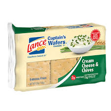 bulk lance captain s wafers cheese and chives crackers at