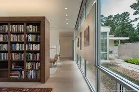 Walnut Bookshelves Gallery House Murphy Mears Architects