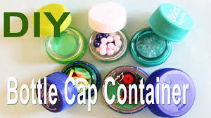 recycle diy mini bottle cap container youtube