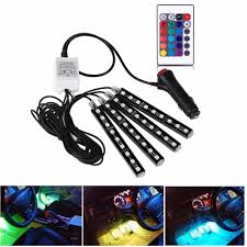 car interior led lighting kit with remote control free shipping