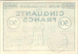 chambre de commerce colmar banknote 50 francs colmar chambre de commerce série a