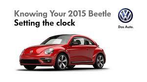 volkswagen beetle setting the clock youtube