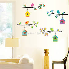 similiar bird themed living room keywords fashion vintage branch bird cage wall stickers removable living room