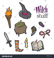 halloween witch vector set design witch stock vector 214163332