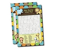 jungle themed baby shower word find search baby shower king of jungle
