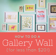 how to do a gallery wall to do a gallery wall for less than 20