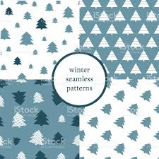 set of simple retro christmas patterns winter background endless