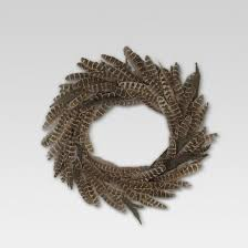 feather wreath brown threshold target