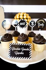 graduation cupcake ideas kara s party ideas be bold black gold graduation party