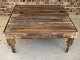 Weathered Wood Coffee Table Oversized Square Coffee Tables Bobreuterstl Com Distressed Wood