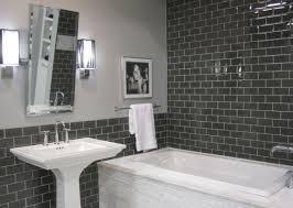 bathroom tile ideas grey gray subway tile bathroom tiles in 20 contemporary design ideas