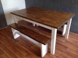 Bench Style Dining Tables 5ft Farmhouse Style Dining Table With 2 Benches On Gumtree