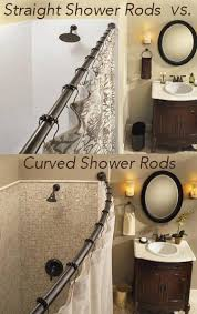 Small Shower Curtain Rod Expand Small Shower Bathroom Space Easily With 1 Simple Upgrade