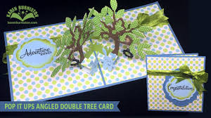 Challenge Flower Pot Pop It Ups Angled Tree Card
