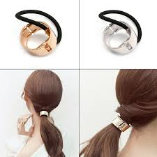 hair cuff women hair cuff wrap ponytail metal holder ring tie elastic hair