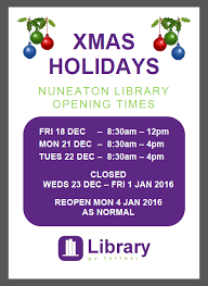 opening hours library
