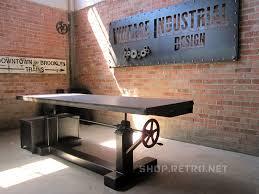 adjustable height desk vintage industrial furniture