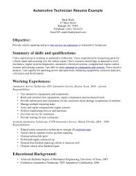 Resume Summary Of Qualifications Great Summary Of Skills And Qualifications Auto Mechanic Resume