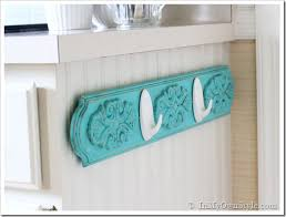 kitchen towel rack ideas chalk painted kitchen dish towel rack inmyownstyle