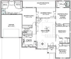 one story floor plans with two master suites nonsensical rambler house plans with two master suites 8 prissy