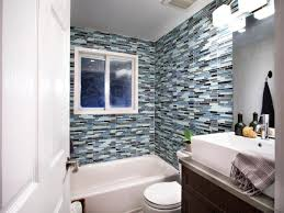 Bathroom Glass Tile Designs by Brilliant Bathroom Glass Tile Walls Burgundy Red Mosaic Wall Stone
