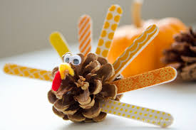 the cutest thanksgiving kid crafts pinecone turkey pinecone and