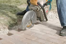 Cutting Patio Pavers Digging Out And Laying A Paver Patio The Home Depot Canada