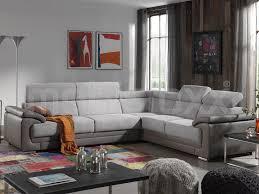 canapé 3 2 tissu canapé d angle elenor 3 2 places tissu et éco cuir gris taupe chez