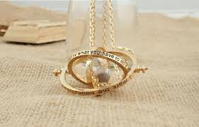 hermione necklace images Valentine 39 s gold plated time turner hourglass vintage necklace jpg