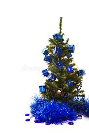 Christmas Tree With Blue Decorations - christmas tree with blue decorations stock image image 33037111