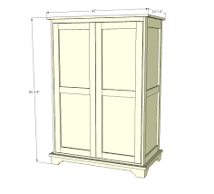 White Armoire Ana White Toy Or Tv Armoire Diy Projects