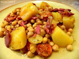 cuisiner pois chiches pois chiches aux lardons chorizo et pommes de terre les légumes