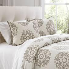 bedroom birch lane carol beige duvet cover set waterfall ruffle
